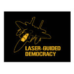 Laser-Guided Democracy / Peace through Firepower Post Cards