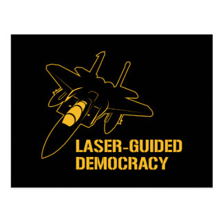 Laser-Guided Democracy / Peace through Firepower Postcard