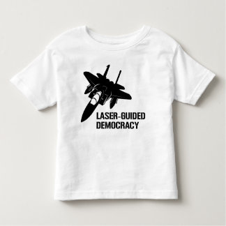 Laser-Guided Democracy / Peace through Firepower T-shirts