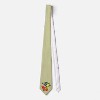 Laser Gun Pew Pew Pew Necktie Tie