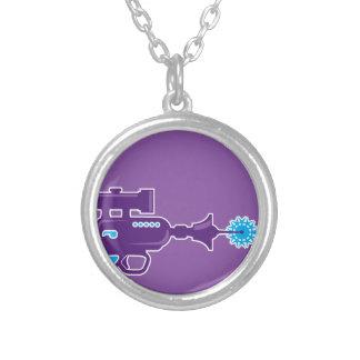 Laser Gun Vector Silver Plated Necklace