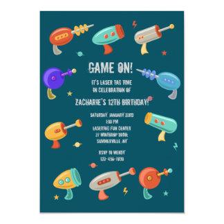 Laser Guns Invitation