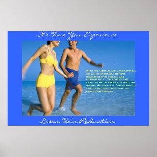 Laser Hair Marketing, Couple Running Poster
