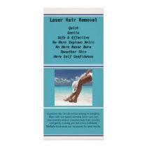 Laser Hair Rack Card