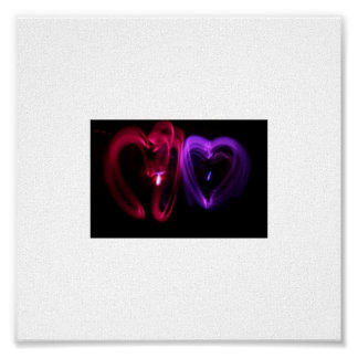 Laser Hearts Canvas Poster