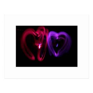 Laser Hearts Postcard