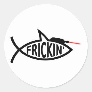 Laser Ichthys Sticker