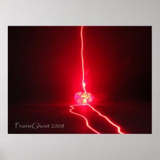 Laser Lightning Poster