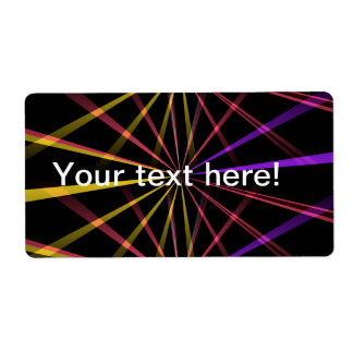 Laser lights personalized shipping labels