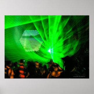 Laser Lights Outdoor Poster