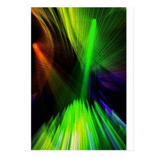 laser lights postcard