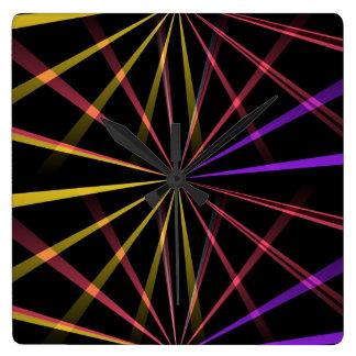 Laser lights square wall clocks