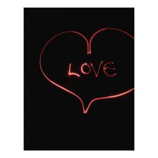 Laser love letterhead