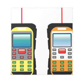 Laser measuring device vector notepad