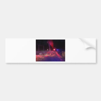 laser night party car bumper sticker