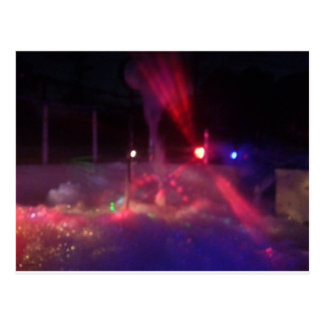 laser night party postcard