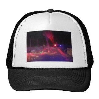 laser night party trucker hat