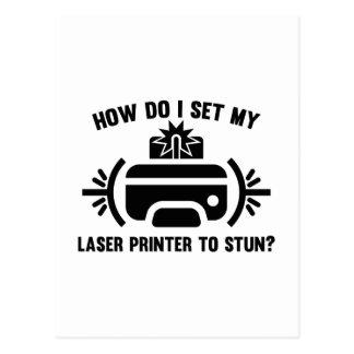 Laser Printer Postcard