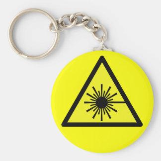 Laser_Radiation Basic Round Button Keychain