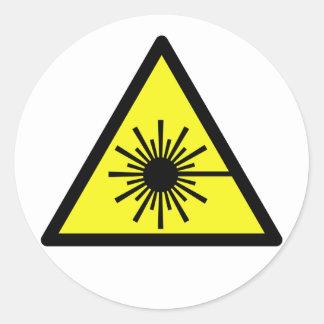 Laser_Radiation Pegatina Redonda