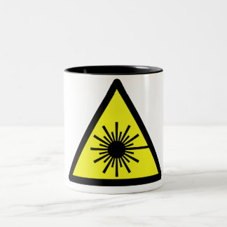 Laser_Radiation Two-Tone Coffee Mug