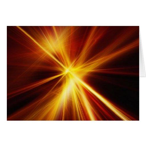 Laser rojo y del naranja Starburst Felicitacion