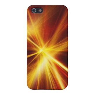 Laser rojo y del naranja Starburst iPhone 5 Carcasa