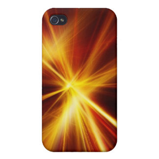 Laser rojo y del naranja Starburst iPhone 4 Protector