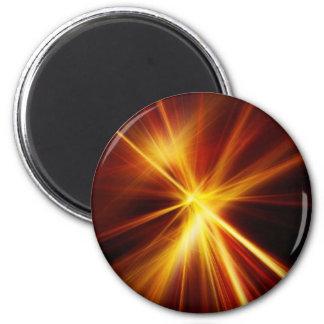Laser rojo y del naranja Starburst Imán Para Frigorífico