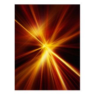 Laser rojo y del naranja Starburst Postales