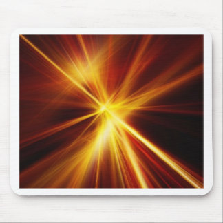 Laser rojo y del naranja Starburst Tapete De Ratón