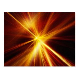 Laser rojo y del naranja Starburst Tarjetas Postales