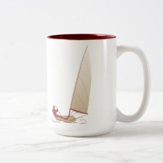 Laser Sailboat Dinghy Sailing Mug - Modern Design