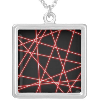 Laser Silver Plated Necklace