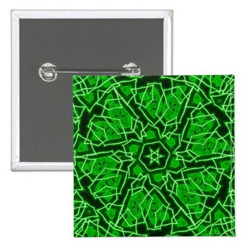 Laser Snowflake 2 Inch Square Button