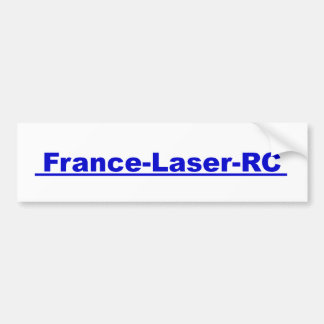 Laser Sticker blue France RC Bumper Stickers
