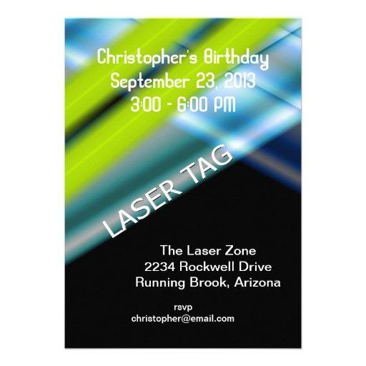 Laser Tag Birthday Custom Invitations