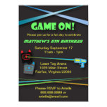 Laser Tag Birthday or Team Building Party 4.5x6.25 Paper Invitation Card