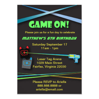 Laser Tag Birthday or Team Building Party Card