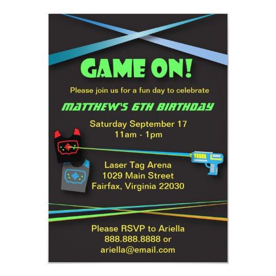 Laser Tag Birthday or Team Building Party Card | Zazzle.com