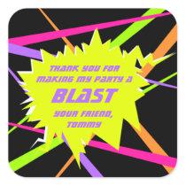 Laser Tag Birthday Party Favor Tag