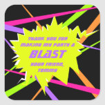 Laser Tag Birthday Party Favor Tag Square Sticker