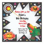 Laser Tag Birthday Party Invitation