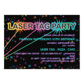 Laser Tag Birthday Party Invitation 5