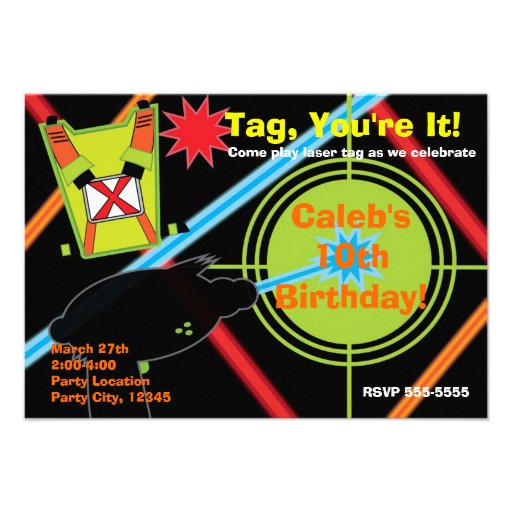 Laser Tag Party Invitations for your inspiration to make invitation template look beautiful