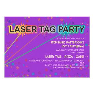 Laser Tag Birthday Party Invitation   Girl