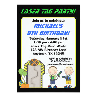 Laser Tag Birthday Invitations Announcements Zazzle