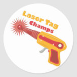 Laser Tag Champs Classic Round Sticker