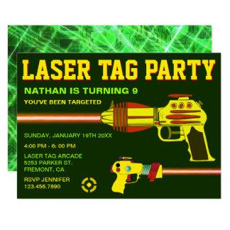 Laser Tag Kids Birthday Party Invitation
