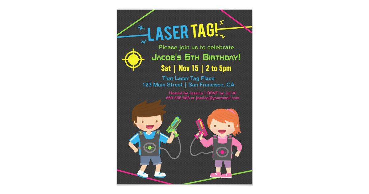 Laser Tag Birthday Invitations & Announcements | Zazzle